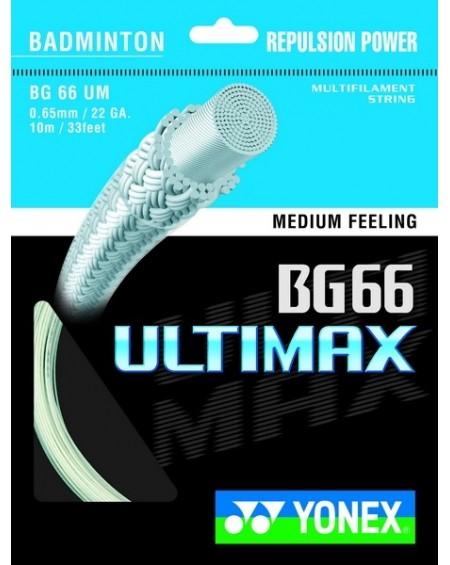 Garniture Yonex BG 66 Ultimax Blanc