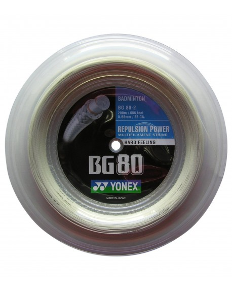 Bobine Yonex BG 80 Blanc (200m)