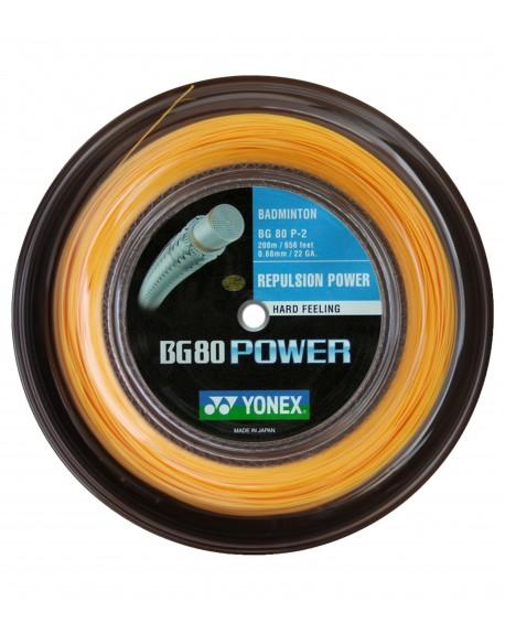 Bobine Yonex BG 80 Power Orange(200m)