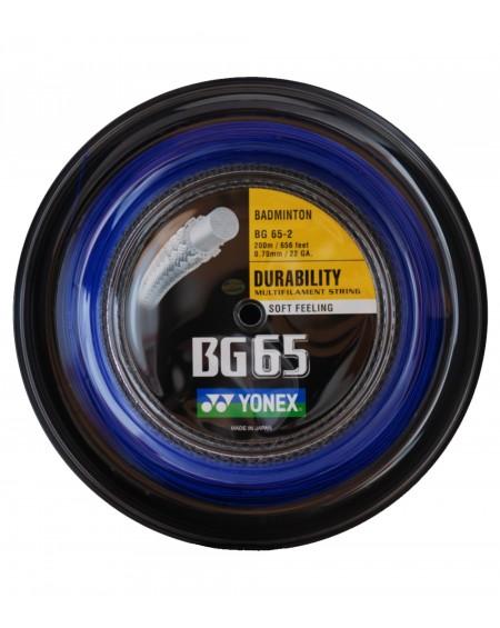 Bobine Yonex BG 65 Bleu (200 m)