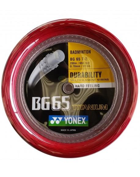 Bobine Yonex BG 65 TI Rouge (200 m)