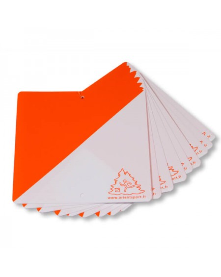 Balise 15x15 plastique orange