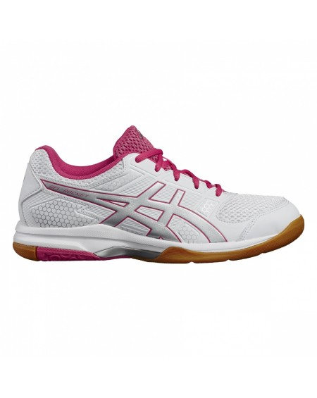 ASICS GEL ROCKET 8 LADY BLANC/ARGENT