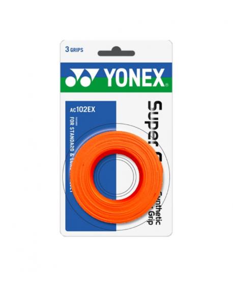 YONEX SURGRIP AC102EX ( x3 )  - ORANGE