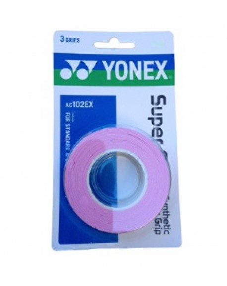 YONEX SURGRIP AC102EX ( x3 )  - ROSE
