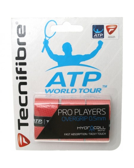 TECNIFIBRE SURGRIP PLAYERS PRO ( x3 ) - ROUGE