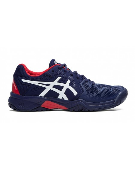 ASICS GEL RESOLUTION 8 JUNIOR MARINE/BLANC