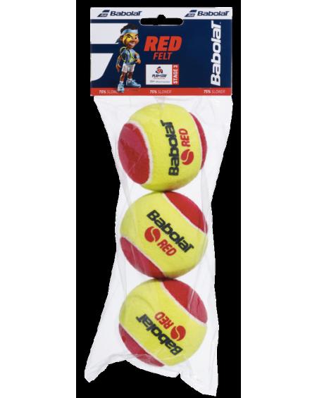 BABOLAT BALLES RED FELT ( x3 )