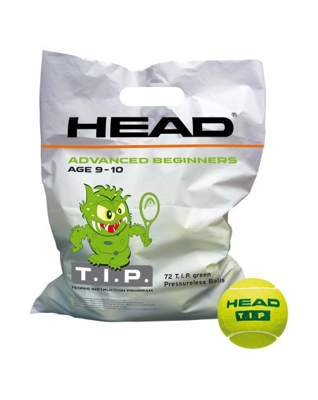 HEAD BALLES TIP GREEN ( x72 )